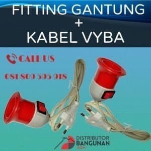FITTING GANTUNG + KABEL VYBA