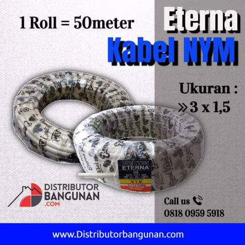 kabel nym 3 1 5 50m eterna distributor bahan bangunan. Black Bedroom Furniture Sets. Home Design Ideas