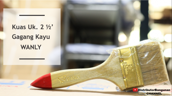 Kuas Uk. 2 1/2′ Gagang Kayu WANLY