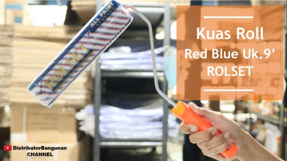 Kuas Roll Red Blue Uk. 9 ROLSET