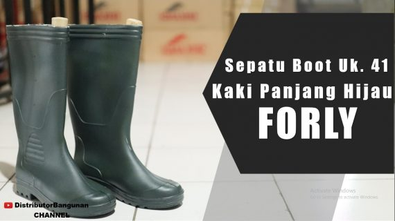 Sepatu Boot Uk.41 Kaki Pjg Hijau FORLY